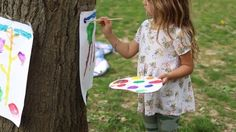 Have you ever used a tree as an easel?