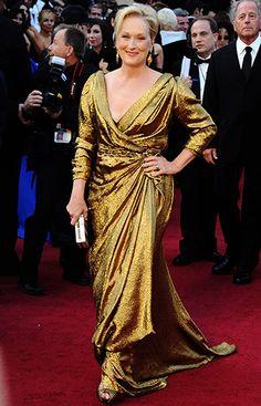 "Meryl Streep (aka ""The Iron Lady"") at the #oscars12 - just look at the stunning red carpet!  :)  #carpetcrazy #carpetonedfw"