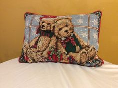 A personal favorite from my Etsy shop https://www.etsy.com/listing/481453604/country-tabestry-holiday-teddy-bear