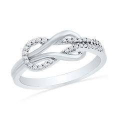 10KT White Gold 0.16CTW DIAMOND FASHION RING