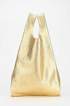 BAGGU Classic Small Leather Shopper Bag, $128, via Urban Outfitters