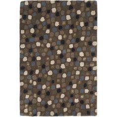Safavieh Handmade Sprinkles Dark Grey New Zealand Wool Rug (2' x 3') (SOH858A-2), Size 2' x 3' (Cotton, Dots)