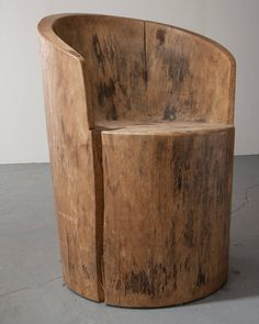 Pair of Solid Wood Chairs .