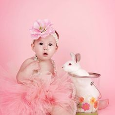 Easter :) live bunny shoot had so much fun with this! Ivory Polka Dot Little Girls Boutique Tutu