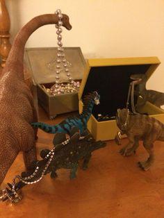 Fancy dinos. They seem to like glitter... #dinovember