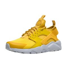 sale retailer 72a78 584d6 Nike Air Huarache Run Ultra Mineral Yellow Sneaker Men s Lifestyle Shoes.  HerrskorGula ...