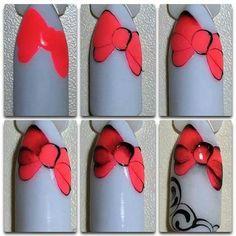 Super Cute Ideas for Summer Nail Art - Nailschick Xmas Nails, Diy Nails, Cute Nails, Nail Art Modele, Christmas Nail Art, Stylish Nails, Gel Nail Art, Nail Tutorials, Winter Nails