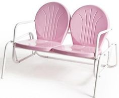 Buy Retro Metal Lawn Furniture Here - Bellaire Double Glider - For the patio,yard,pool or porch! Looks Vintage, Vintage Pink, Shabby Vintage, Shabby Chic, Vintage Metal, Vintage Porch, Wedding Vintage, Vintage Industrial, Lawn Furniture
