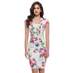 9 Styles Women Clothing Cap Sleeve Casual Floral Print Vintage dress Pattern Polka Dots 50s Bandage Dresses Plus Size Gown 7597 Alternative Measures - Brides & Bridesmaids - Wedding, Bridal, Prom, Formal Gown - Alternative Measures - 1 as picture / S / Manufacturer - 4