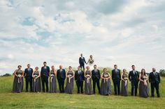 Bridal Entourage - Navy + Gray
