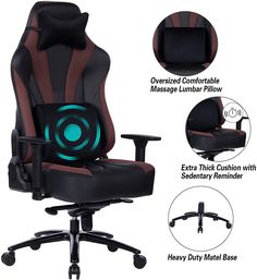 Metal Base and Aluminum Alloy Armrest High Back PC Racing Office Computer Desk Ergonomic Swivel Task Chair Bunk Bed With Desk, Loft Bunk Beds, Desk Chair, Gaming Chair, Round Tufted Ottoman, Home Storage Solutions, Office Computer Desk, Adjustable Desk, Upholstered Platform Bed