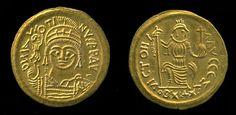 Solidus of Justin II, 567-570,  Byzantine Empire. British Museum