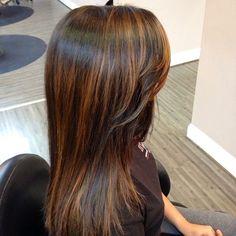 balayage long straight dark hair - Google Search