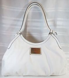 NICOLE-MILLER-WHITE-MEDIUM-SHOULDER-HANDBAG-PERFEC-CONDITION-FREE-SHIPPING
