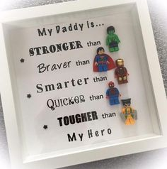 - Best Christmas Gifts for Dad What dadd. - Best Christmas Gifts for Dad What daddy get for Christmas # # # # # of Christm. Diy Father's Day Gifts, Father's Day Diy, Craft Gifts, Lego Frame, Cadeau Parents, Daddy Day, Christmas Gift For Dad, Christmas Christmas, Ideias Diy