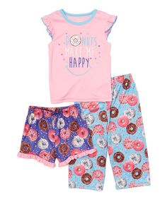 Ruffles and yummy graphics sweeten this set featuring comfortable, lightweight fabric and a choice of short or long pajama bottoms.   Flame Resistant