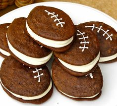Super Bowl Party Food Ideas - Football Whoopie Pies - Click Pic for 40 Easy Super Bowl Snacks