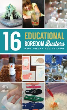 Keep the kids thinking with these educational boredom busters. www.TheDatingDivas.com