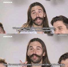 Jonathan Van Ness Fab Five, Five Guys, Seriously Funny, Pep Talks, Reality Tv, Movies Showing, Best Tv, Movie Quotes, Laugh Out Loud