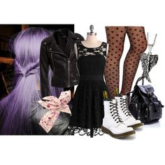 soft goth by chloe-dziego on Polyvore