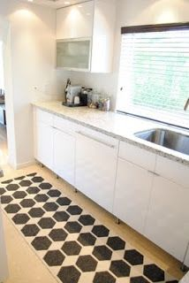 jandjhome: Our Kitchenrug from Brita Sweden.  Anna rug