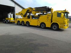 Scania. Zwaar AUTOKRAAN . MAG 350 TM. AANHANGER.