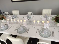 Chemin de table flocon de neige argent intiss blanc tables - Deco table noel argent et blanc ...
