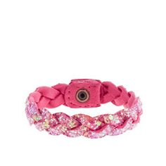 Girls' glitter braid bracelet