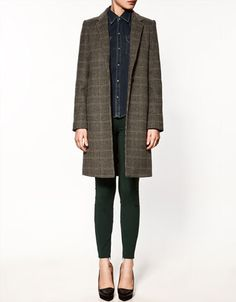 Masculine Checked Coat. $189.00