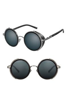 PERVERSE 'Madness' 47mm Round Sunglasses available at #Nordstrom