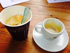 """Espresso, gelato, biscotti all in one cup. W/ a side shot of #espresso. #tastingplatesyvr TASTY!"" Image by @ZahraAlani"