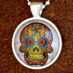 "ODDITY Steampunk Victorian Freak Human SKULL anatomical pendant charm goth pendant Necklace Sugar Skull Day of the Dead Zombie tattoo biker by umbrellalaboratory. $12.99. ?~?~? Cute necklace you will fall in love with !  Great gift for everyone even yourself !?~?~?  We present RARE bizarre necklace ! Pendant is roughly 1"" diameter, chain is silver plated 24"" . Necklace is going to be great addition for your pirate, steampunk , Victorian ,gothic ,witch...."