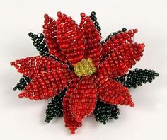 beaded flowers with seed beads