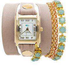 My custom designed watch from La Mer Collections. Neutrals and keeping it casual! #CUSTOMLAMER
