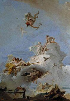 El Olimpo o Triunfo de Venus, Giambattista Tiépolo, 1761-64. Óleo s/ lienzo.