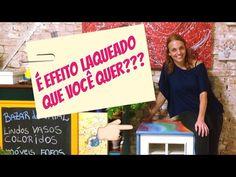 DIY - Como conseguir EFEITO LAQUEADO em móveis #pinturademoveis - YouTube