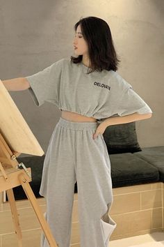 Korean Casual Outfits, Korean Outfit Street Styles, Mode Outfits, Cute Casual Outfits, Simple Outfits, Pretty Outfits, Stylish Outfits, Girl Outfits, Korean Outfits Kpop