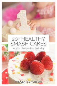 20 healthy smash cake recipes for your baby's first birthday. Want a healthier birthday cake for your baby? Check out these awesome recipes for paleo, organic, gluten-free, dairy-free, allergy-friendly smash cakes for your baby's birthday. Smash Cake Recipes, Smash Recipe, Healthy Cake Recipes, Healthy Smash Cakes, Homemade Smash Cake, Baby First Birthday Cake, Dairy Free Birthday Cake, Low Sugar Birthday Cake Recipe, Elsa Birthday