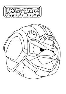 Angry Birds Star Wars Coloring Page  My Free Coloring Pages