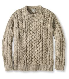 Irish Fisherman's Sweater, Crewneck: Crewnecks at L.L. Bean