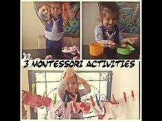 3 Montessori Activities for 3 Years Old. 3 Yaş İçin Evde Gelişimini Destekleyici Aktiviteler - YouTube