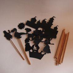 Kit sombras chinas cuentos princesas y dragones