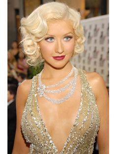 great gatsby style christina aguilera... Great hair, great look all around. It's a nod to the old glam days