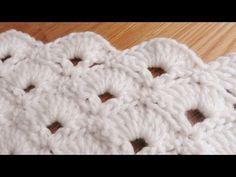 Bufanda de Abanicos a Crochet - YouTube