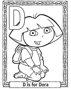 Coloring Pages And Colrring Sheets Cartoons Alphabets Dora