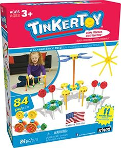 TINKERTOY  Little Constructors Building Set  84 Pieces  Ages 3 Preschool Educational Toy ** Check out this great product.