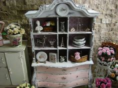 Dollhouse Miniature Vintage Shabby Chic by IttyBittyAndCute, $239.95