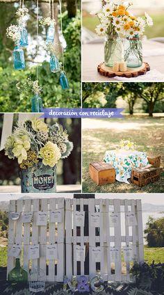 decoración con reciclaje