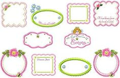 Girls Applique Blanket Labels - 2 Sizes! | Featured Products | Machine Embroidery Designs | SWAKembroidery.com
