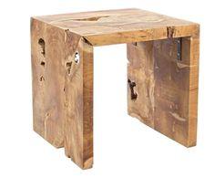 Tavolino in teak rocio naturale, 45x45x45 cm